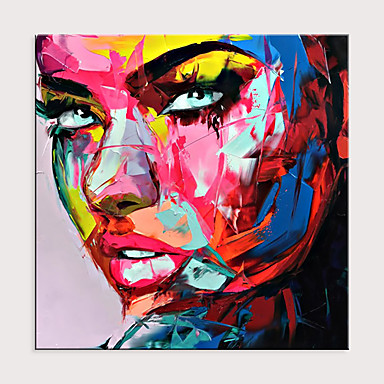 cheap Wall Art-Palette Knife Portrait Pop Art On Canvas Oil Painting Street Art Colorful Hand Painted Aall Art Picture