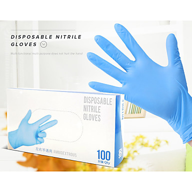cheap Personal Protection-100PCS Disposable Latex Gloves Rubber Gloves Cleaning Gloves Work Gloves