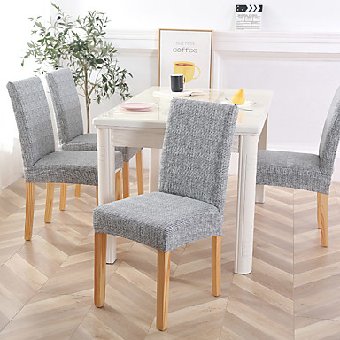 cheap Home Textiles-Chair Cover Dining Room Chair Slipcovers Stretch Furniture Protector Covers Removable Washable Elastic Parsons Seat Case for Restaurant Hotel Ceremony
