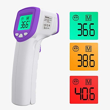 Color Thermometer Forehead Digital Forehead / Infrared Ear Thermometer With LED Display Suitable for Infants / Adults