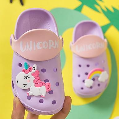cheap Kids' Slippers-Girls' Comfort PVC Slippers & Flip-Flops Little Kids(4-7ys) Purple / Pink / Blue Summer