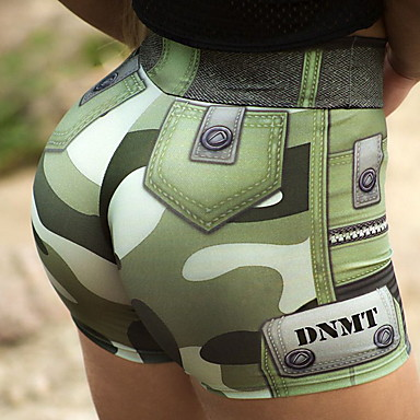 cheap Exercise, Fitness & Yoga-Women's High Waist Yoga Shorts Ruched Butt Lifting Shorts Butt Lift Quick Dry Army Green Elastane Gym Workout Running Fitness Sports Activewear Stretchy Slim