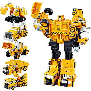 cheap Building Blocks-1:10 Metal Alloy Truck Crane Wheel Tractor-Scraper Track Set Transformation Car Toy Transformable Simulation Parent-Child Interaction Boys' Adults Car Toys