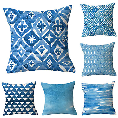 cheap Slipcovers-Set of 6 Throw Pillow Simple Classic 45*45 cm Cushion Vintage Circle Cover Sofa Home Decor Throw Pillow Case
