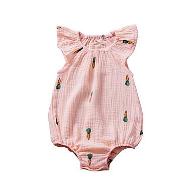 cheap Baby Girls' One-Piece-Baby Girls' Basic Print Sleeveless Bodysuit Blushing Pink