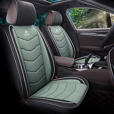 cheap Car Seat Covers-5 seats Black Four Seasons Car seat cover for Five seat PU Leather Material/Airbag compatibility/Adjustable and Removable/Family car