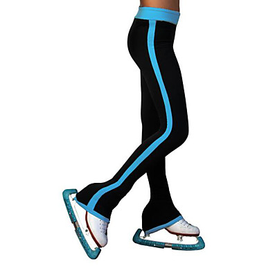 Over The Boot Figure Skating Tights Women's Girls' Ice Skating Pants / Trousers Blue Spandex High Elasticity Training Skating Wear Patchwork Ice Skating Figure Skating / Kids