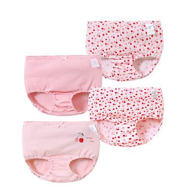 cheap Girls' Underwear & Socks-4 Pieces Kids Girls' Print Underwear & Socks Purple