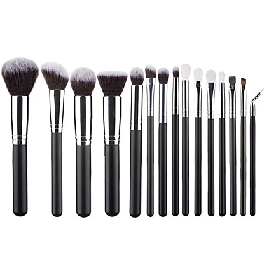 cheap Makeup Brushes-Professional Makeup Brushes 15pcs Soft Lovely Comfy Aluminium Alloy 7005 / Wooden / Bamboo for Concealer & Base Powders Foundation Blush Brush Makeup Brush Lip Brush Eyeshadow Brush