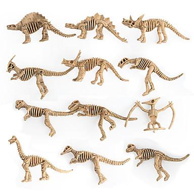 Недорогие Динозавры-Фигурки животных Драконы и динозавры Диаграмма динозавров Динозавр Специально разработанный Подарок Товары для офиса пластик 12 pcs Взрослые Детские