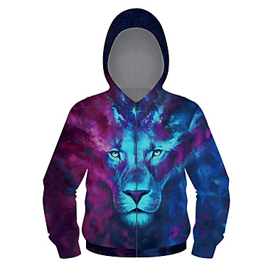 cheap Boys' Jackets & Coats-Kids Boys' Active Punk & Gothic Geometric Galaxy Color Block Regular Suit & Blazer Blue