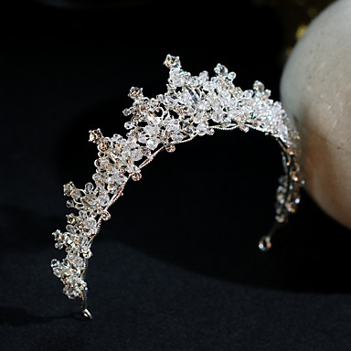 cheap Hair Jewelry-Women's Tiaras For Wedding Party Evening Prom Festival Artisan Alloy White 1pc