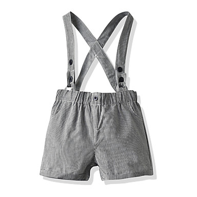 cheap Baby Boys' Bottoms-Baby Boys' Basic Solid Colored Shorts Gray