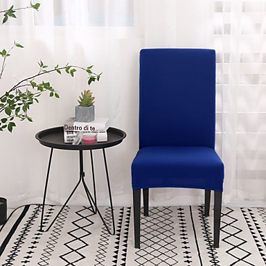 cheap Slipcovers-Chair Cover Strech Dining Chair Slipcover High Stretch Black/Gray/White Furniture Protector Spandex Removable Washable Chair Seat Protector Cover for Home Party Hotel Wedding  Ceremony