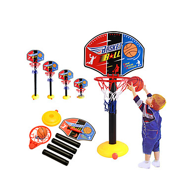 cheap Outdoor Fun & Sports-Basketball Toy Basketball Hoop Basketball Goal Toy Ball Pump Basketball Hoop Set Mini Portable Height Adjustments Adjustable Sports Outdoor Indoor Plastics 20-45 inch 14 years+ Boys' Girls' Boys and