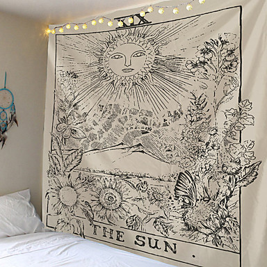cheap Wall Tapestries-Wall Tapestry Art Decor Blanket Curtain Picnic Tablecloth Hanging Home Bedroom Living Room Dorm Decoration Psychedelic Sun Medieval Europe Divination Tarot Card