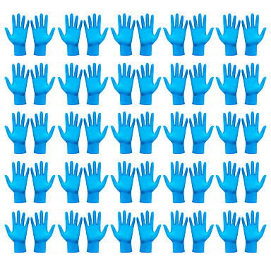 cheap Personal Protection-50PCS Labor Protection Dustproof Disposable Gloves Anti Bacteria Protective Cleaning Multi-purpose Compact Gloves 50PCS