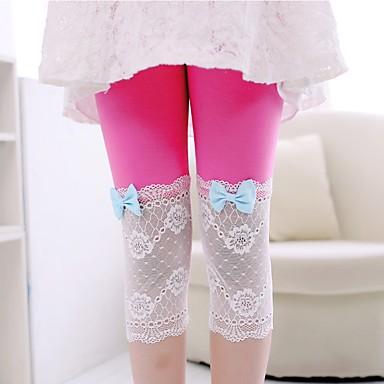 cheap Girls' Pants & Leggings-Kids Toddler Girls' Active Street chic Patchwork Patchwork Leggings Purple