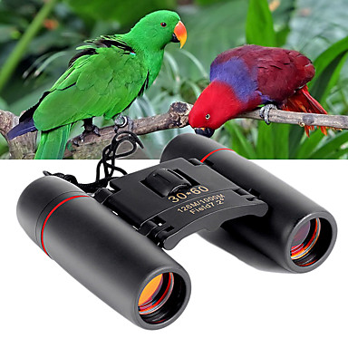 cheap Binoculars, Monoculars & Telescopes-30 X 60 mm Binoculars Military Night Vision in Low Light High Definition Fully Multi-coated Hunting Camping / Hiking / Caving Outdoor Plastic Rubber