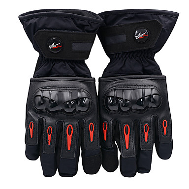 cheap Motorcycle Gloves-Full Finger Motorcycle Riding Waterproof Protective Cotton Gloves Anti-fall and Anti-shock Black No Need to Take off in Use (L / XL / XXL)