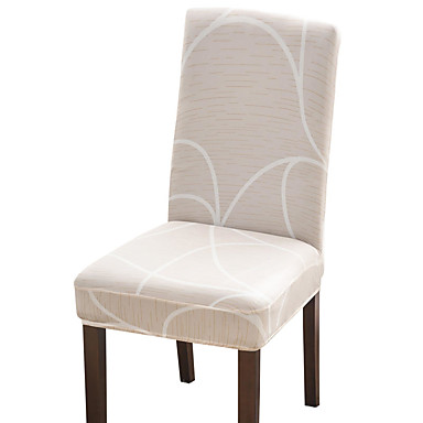 cheap Slipcovers-Beige Check Print Super Soft Chair Cover Stretch Removable Washable Dining Room Chair Protector Slipcovers Home Decor Dining Room Seat Cover