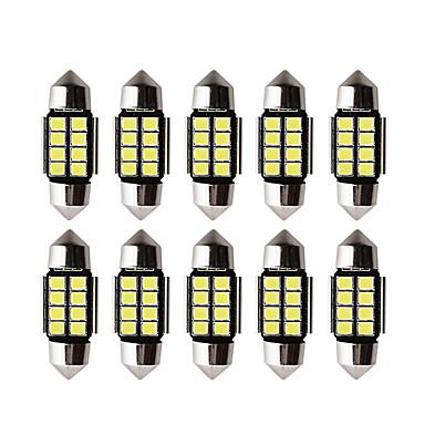 voordelige Autolampen-10 stks auto led c5w led lamp canbus 12v festoen 31mm 36mm 39mm 41mm c5w c10w leeslamp auto-interieur licht 2835 smd wit