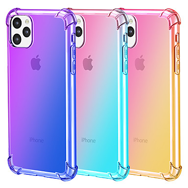 cheap iPhone Cases-Gradient color mobile phone case for iPhone11 Pro Max iPhone XR XS Max X 7 7 6 6S Plus transparent ultra-thin TPU protective case