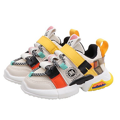 Girls' Comfort Mesh Trainers / Athletic Shoes Little Kids(4-7ys) Running Shoes Pink / Black / Beige Summer