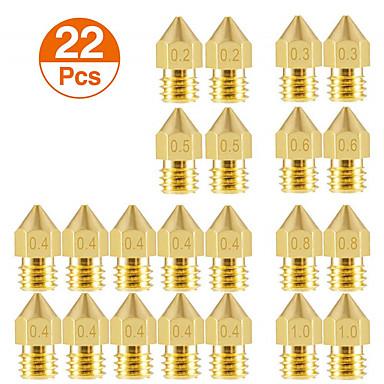 billige 3D-skrivere og tilbehør-3d-skriverdyser mk8 ekstruder dyseekstruder skrivehode 1,75mm for 3d-skriver anet a8 makerbot mk8 creality cr-10 ender 3
