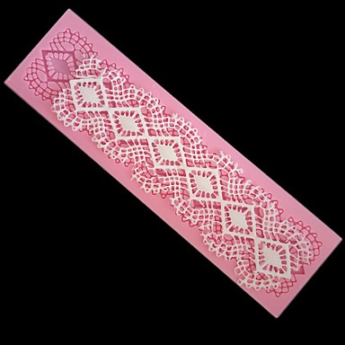 cheap Baking & Pastry Tools-DIY Fondant Silicone Cake Baking Lace Lace Mold 1pc