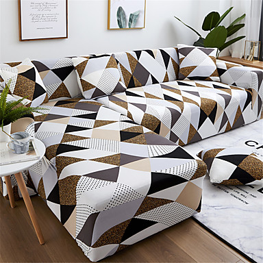 cheap Home Textiles-Sofa Cover Couch Cover Furniture Protector Soft Stretch Sofa Slipcover Spandex Jacquard Fabric Super Strechable Cover Fit for Armchair/Loveseat/Three Seater/Four Seater/L Shape Sofa Easy to Install