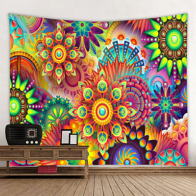 cheap Wall Tapestries-Brand NEW Mandala Tapestry Polyester Bohemian Wall Hanging Decor Blanket Indian Style Yoga Sleeping Tapestry Mandala Wall Fabric
