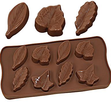 povoljno Kuhinja i objedovanje-silikonski kalup 8 različitih listova čokoladni puding led kalup diy alati za pečenje 3d javorov list
