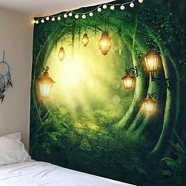 cheap Wall Tapestries-Fantasy Forest Kasteel Wandtapijt Muur Opknoping Thuis Kid Slaapkamer Achtergrond Decor Art Hippie Tapijt Muur Tapijt Psychedelische Tapestry