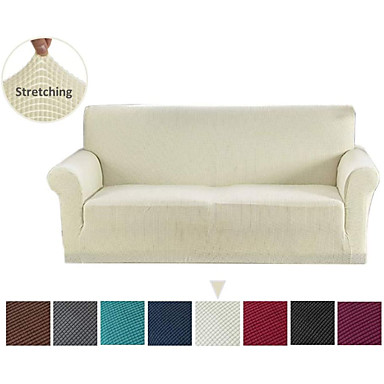cheap Home Textiles-Jacquard Sofa Slipcover (You will Get 1 Throw Pillow Case as free Gift) Stretch Couch Slip Cover Spandex Furniture Protector for 3 Cushion Seater Sofa Cover for Living Room Machine Washable