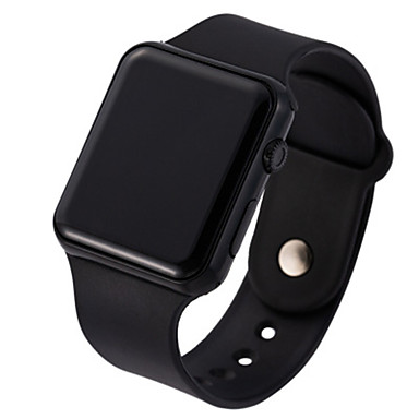 cheap Square & RectangularWatches-Unisex Digital Watch Digital Sporty Stylish Casual LED Light Silicone Black / White Digital - Rose Gold White Black