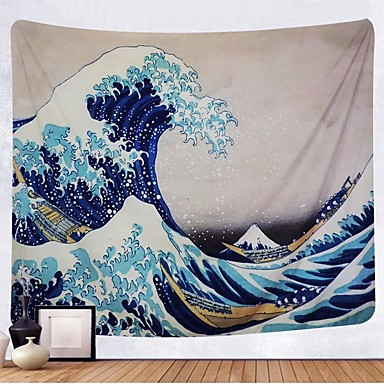 cheap Wall Art-Beach Theme / Classic Theme Wall Decor Polyester / 100% Polyester Bohemia / Modern Wall Art, Wall Tapestries Decoration