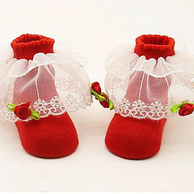 hesapli Kids CollectionUnder $8.99-Toddler Genç Kız Solid Kırk Yama İç Çamaşırı ve Çoraplar YAKUT