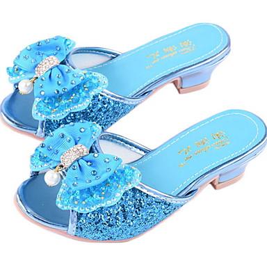 cheap Kids' Slippers-Girls' Comfort PVC Slippers & Flip-Flops Little Kids(4-7ys) Pink / Blue / Silver Spring