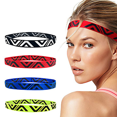 cheap Exercise, Fitness & Yoga-Silicone Sweat Headband Sweatband Sports Headband Men's Women's Headwear N / A Breathable Quick Dry Moisture Wicking for Home Workout Running Fitness Autumn / Fall Spring Summer Red Green Blue