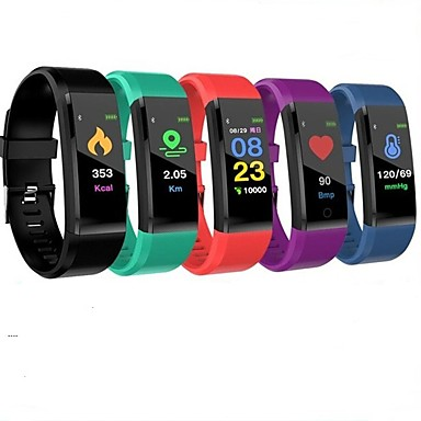 cheap Smart Wristbands-ID115 PLUS Smart Wristband Bluetooth Fitness Tracker Support Notify/ Heart Rate Monitor Waterproof Sports Smartwatch Compitable Samsung/ Iphone/ Android Phones