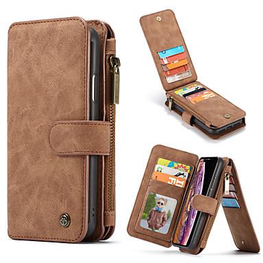 cheap iPhone Cases-CaseMe Multifunctional Luxury Business Leather Flip Case For iPhone SE2020 / 11 Pro Max / 11 Pro / 11 / Xs Max / XR / Xs / X / 8 Plus / 7 Plus / 6 Plus / 8 / 7 / 6 Wallet Card Slot Detachable Cover