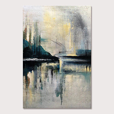 cheap Oversized Painting-Mintura Large Size Hand Painted Abstract Landscape Oil Paintings on Canvas Pop Art Wall Pictures For Home Decoration No Framed