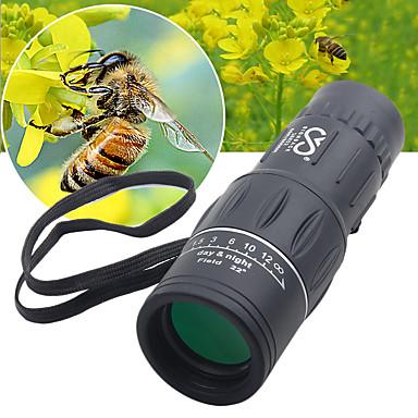 cheap Binoculars, Monoculars & Telescopes-SRATE 16 X 52 mm Monocular High Definition Portable Fully Coated BAK4 Camping / Hiking Hunting Traveling Plastic Rubber Aluminium Alloy / Bird watching