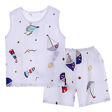hesapli Kids CollectionUnder $8.99-Çocuklar Genç Kız Desen Gecelik Beyaz