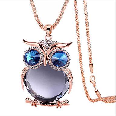 1 Pc Chouette Licorne Pendentif Collier Bijou Chaîne Métal Multicolore Cadeau