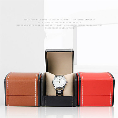cheap Men's Watches-Watch Display Stand Watch Boxes Leather 8 cm 9 cm