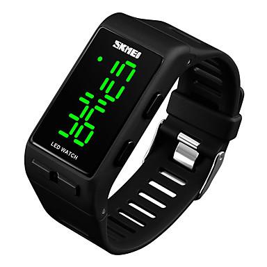 저렴한 정사각형 및 직사각형 시계-여성용 커플용 손목 시계 디지털 시계 스퀘어 시계 디지털 사치 방수 스테인레스 스틸 퀼트 인조 가죽 블랙 / 레드 / 그린 디지털 - 블랙 레드 블루