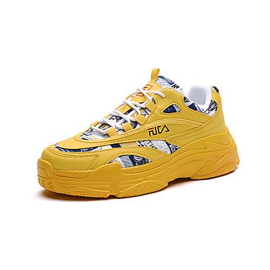 abordables Nouveautés-Homme Matière synthétique Automne / Printemps été Chaussures d'Athlétisme Course à Pied / Marche Respirable Jaune / Blanche / Beige