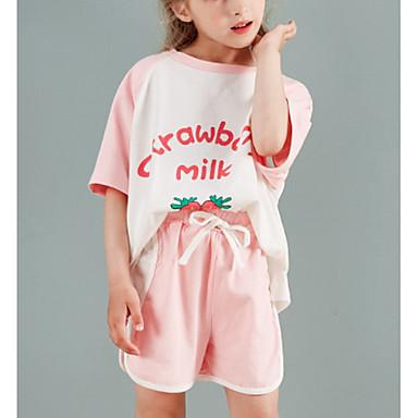 voordelige Meisjesondergoed & sokken-Kinderen Meisjes Print Nachtkleding Blozend Roze